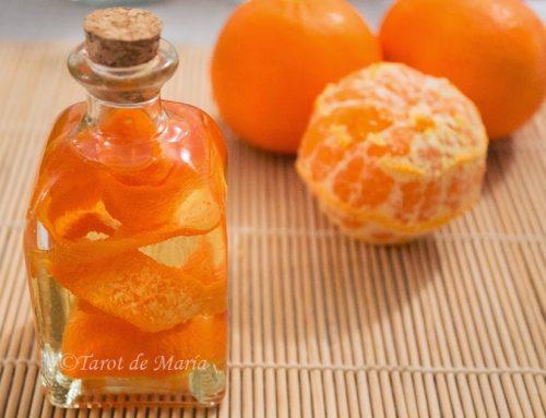 Preparación del aceite esencial de naranja